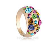Кольцо «Яркие акценты» с напылением золотом 750 пробы, купить
