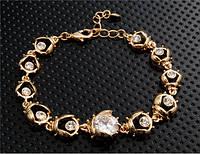 Браслет «Созвездие» с покрытием золотом 750 пробы, Кристаллы Сваровски, купить