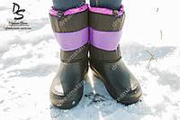 Женские зимние сапоги фиолетовые ( Код : Снежинка)