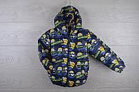 """Куртка детская демисезонная """"Minions"""". 92-116 рост. Темно-синяя. Оптом., фото 1"""
