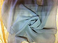 Шифоновый шейный платок размер 50 см цвет бежевый