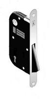 Корпус замка под ручку для межкомнатных дверей магнитный B-one Art 910 ключ матовый хром Bonaiti