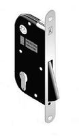 Корпус замка под ручку для межкомнатных дверей магнитный B-one Art 919 под цилиндр матовый хром Bonaiti
