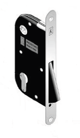 Корпус замка под ручку для межкомнатных дверей магнитный B-one Art 919 под цилиндр матовый хром Bonaiti  - Интернет-магазин «ShopBox» в Днепре
