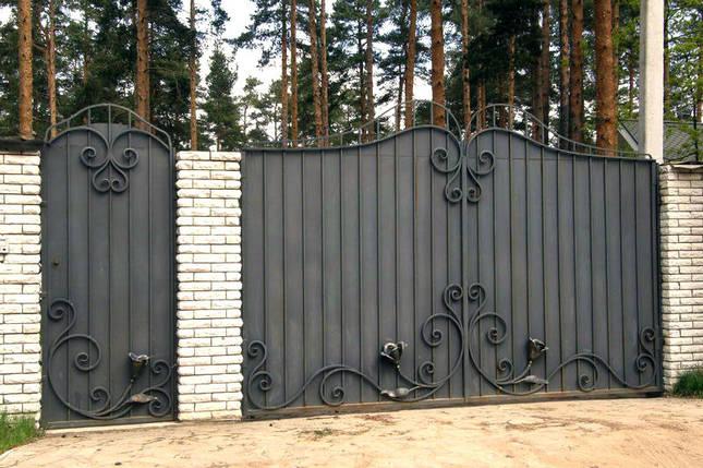 Ворота ковані Ріта ( Рита), фото 2