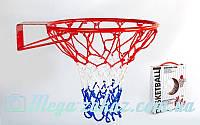 Баскетбольное кольцо с упором 7035 (корзина баскетбольная): 46,5см, D трубы 12мм + сетка
