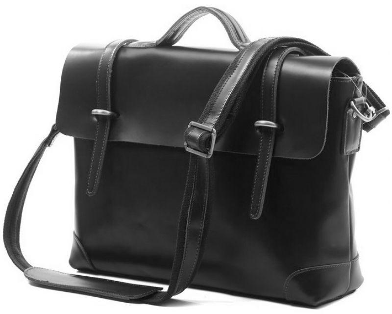 Кожаный портфель Tiding Bag 7082А черный
