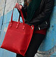Женская яркая кожаная сумка Tote Babak 857078, фото 3