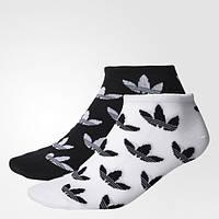 Носки Adidas Originals женские и мужские две пары носков Graphic Trefoil LinerBK5835 - 2017