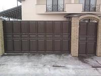 Ворота откатные филенчатые(шоколадка)