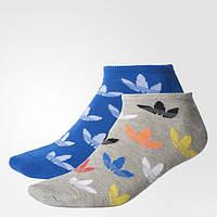 Носки Адидас Originals женские и мужские две пары носков Graphic Trefoil Liner BK5837 - 2017
