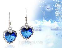 Серьги «Морской бриз» с кристаллами Сваровски, купить