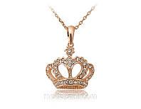 Колье «Корона империи», Сваровски, золотое покрытие, купить
