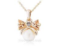 Колье «Дорогой презент», кристаллы, покрытие золотом, подвеска, купить