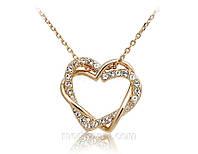 Колье «В ритме сердца» с кристаллами Сваровски, купить