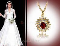 Кулон с цепочкой «Украшение для невесты» с кристаллами Сваровски, купить