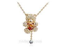 Подвеска «Мишка», в форме мишки, покрытие золотом, кристаллы, цирконы, купить