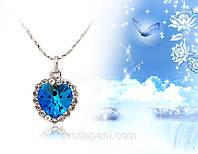 Подвеска «Сверкающее сердце» с кристаллами Сваровски, купить