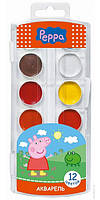 "Краски ПЕРО ""Рeppa pig"" 12 цв. платиковая упаковка"