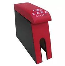 Подлокотник Lada (Лада) ВАЗ 2104, 2105, 2107 цвет красный с вышивкой
