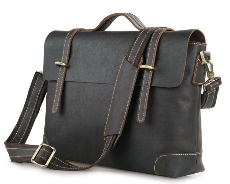 Кожаный портфель Tiding Bag 7082Q