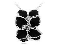 Подвеска «Черная орхидея» с кристаллами Сваровски, купить