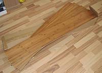 Панель бамбуковая для пола quick floor, темная, размер панели 120 см х 16,5 см