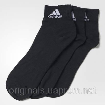Черные носки Adidas Performance мужские, женские и детские размеры AA2321, фото 2