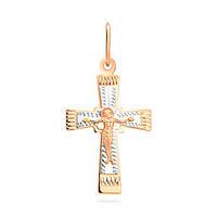 Золотой  крест с алмазной гранью
