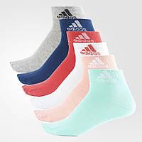 Шесть пар носков Adidas Thin Ankle женские и детские размеры S99891 - 2017