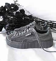 """Rihanna x Puma Velvet Fenty Creeper """"Grecier grey"""""""