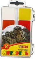 Краски  акварельные TIKI 8 цв. платиковая упаковка