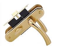Корпус замка основной с ручкой и WC поворотником Saros A34 5К 21 11 мат.темн.золото/темн.золотом Siba
