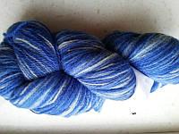 Цветная пряжа Кауни blue 800 Пряжа из 100% овечьей шерсти подходит для ручного вязания рукоделия