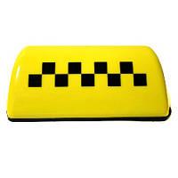 """Фонарь такси желтый с """"шашками"""""""