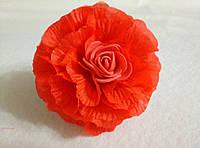 Резинка для волос Роза красная. Подарок на день рождения, 8- марта.