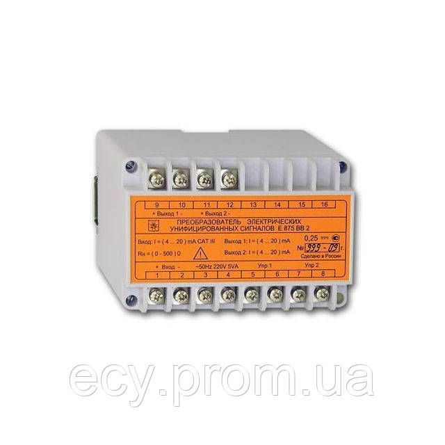 Е875СА2(СА3) Преобразователь электрических унифицированных сигналов постоянного тока