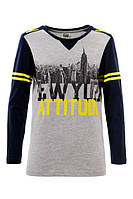 """Модные подростковые регланы для мальчиков с принтом """"Нью-Йорк"""" Glo-story. В наличии 152,164р."""