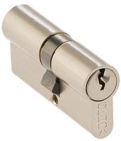 Цилиндр замочный Gerda WKE-1 77мм (31х46) ключ-ключ никель