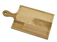 Доска разделочная со сточным желобком и ручкой Кедр 420*220*18 мм