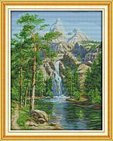 Лето в горах F783 Набор для вышивки крестом с печатью на ткани 14ст