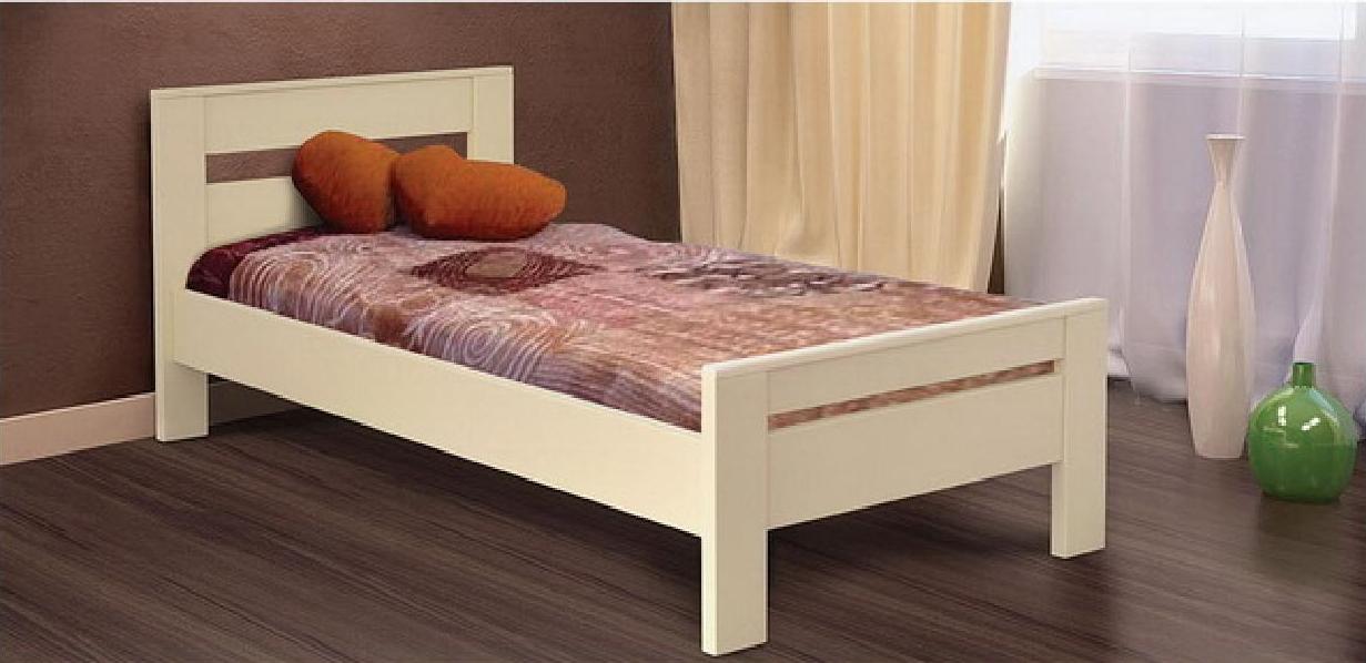 Ліжко односпальне з ламелями Селену 90*200 (дерево) Летро