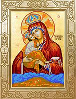 """Схема для вышивки бисером на атласе икона """"Богородица Почаевская """""""