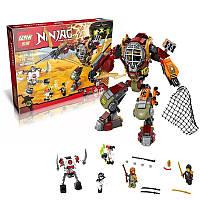 Конструктор 06035 NJ, деталей 478 шт, 4 фигурки героев и робот-спасатель, с оружием, в коробке 48*36*6,5 см