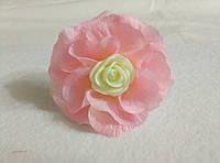 Резинка для волос Чаная роза. Подарок на день рождения, 8- марта.