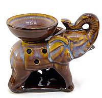 Аромалампа керамика Слон коричневый