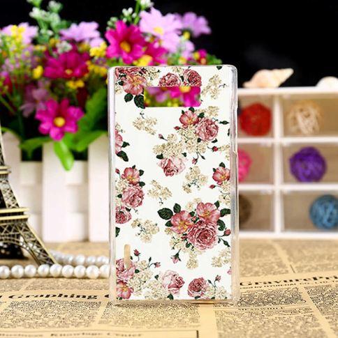 Оригінальний чохол накладка для LG L7 p700 p705 з малюнком Трояндочки