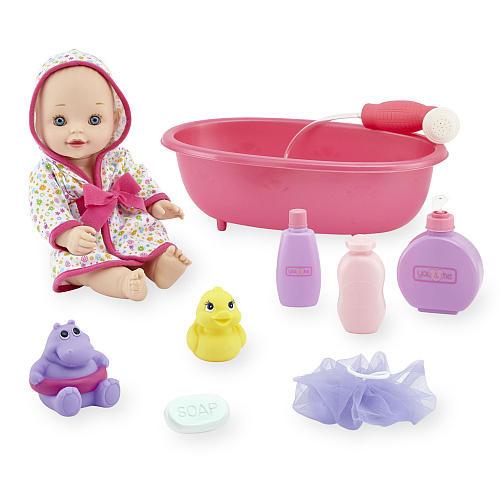 Кукла пупс You & Me c ванночкой и аксессуарами для купания