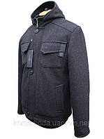 Мужское утепленное шерстяное пальто-куртка.
