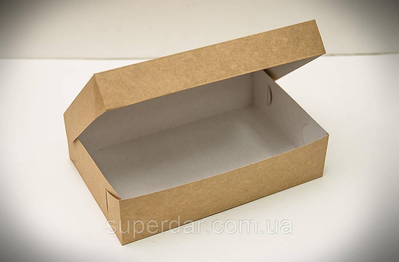 Коробка для эклеров, зефира, печенья и десертов 230*150*60 мм., крафт